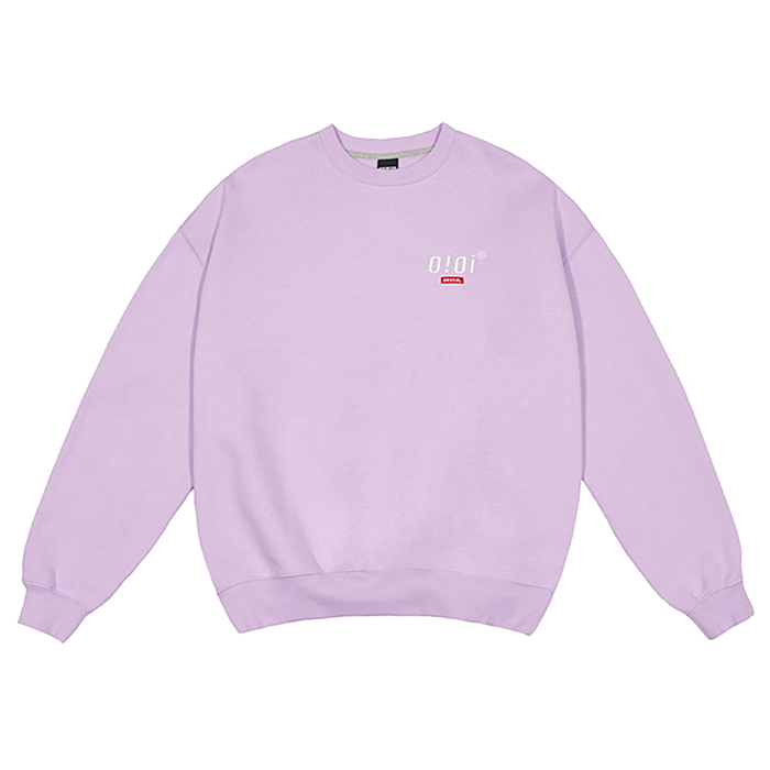 오아이오아이 크루넥 2019 SIDE LOGO JUMPER-LIGHT PURPLE
