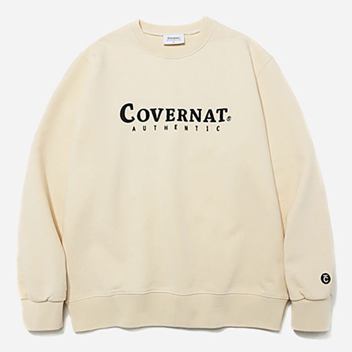 커버낫 맨투맨 AUTHENTIC LOGO CREWNECK-IVORY