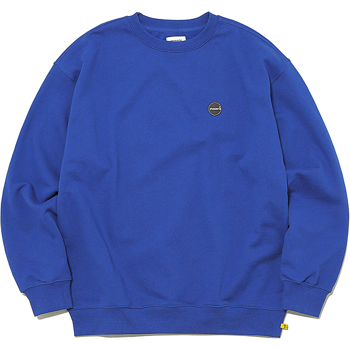 디스이즈네버댓 맨투맨 RUBBER C-LOGO CREWNECK-DARK BLUE