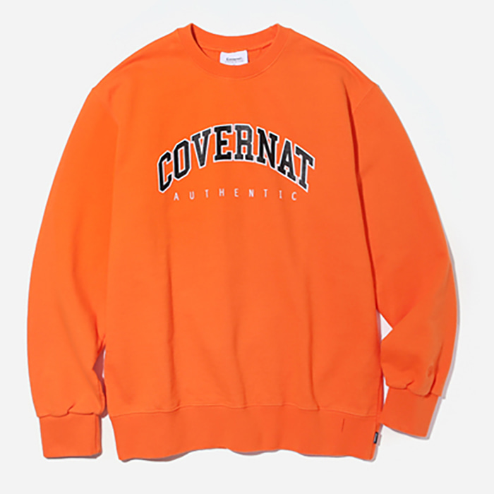 커버낫 크루넥 LINE ARCH LOGO CREWNECK-ORANGE