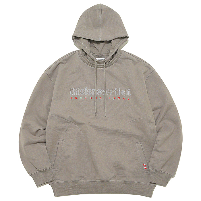 디스이즈네버댓 후드티 INTL. LOGO HOODED SWEATSHIRT-WARM GREY